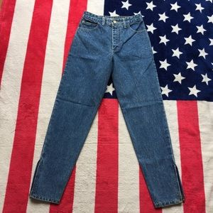 Vintage Guess** High Rise Waist**Ankle Zip Jeans